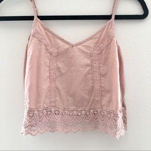 PacSun Light Pink Crop Top